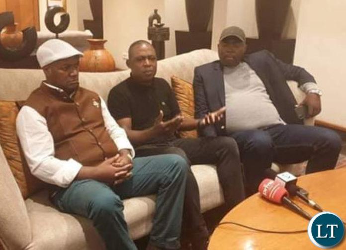 Miles Sampa Kalusha Bwalya and Bowman Lusambo