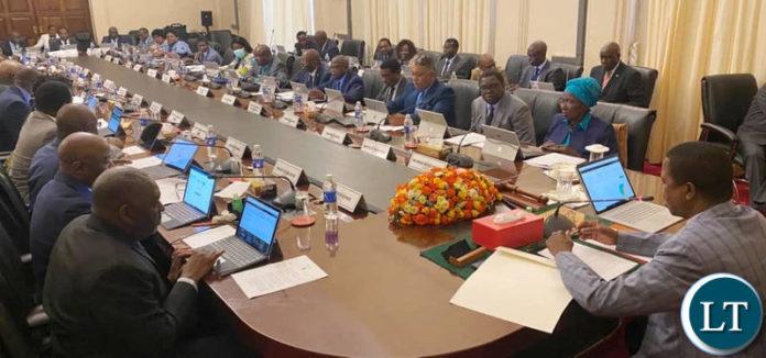 President Lungu addressing Cabinet