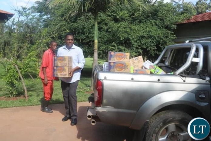 HH inspecting some of the items to be donated as part of Covid-19 response