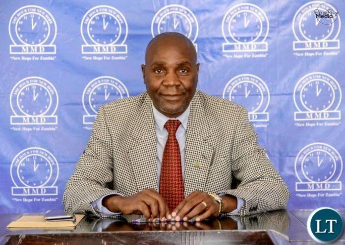 New Hope MMD Spokesperson Dr. Cephas Mukuka