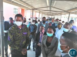 President Lungu Distributing Face Masks