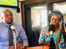 CiSCA Vice-Chairperson Judith Mulenga Debating with PF Deputy Media Director Antonio Mwanza on a Radio Show