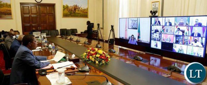 President Lungu in Meeting