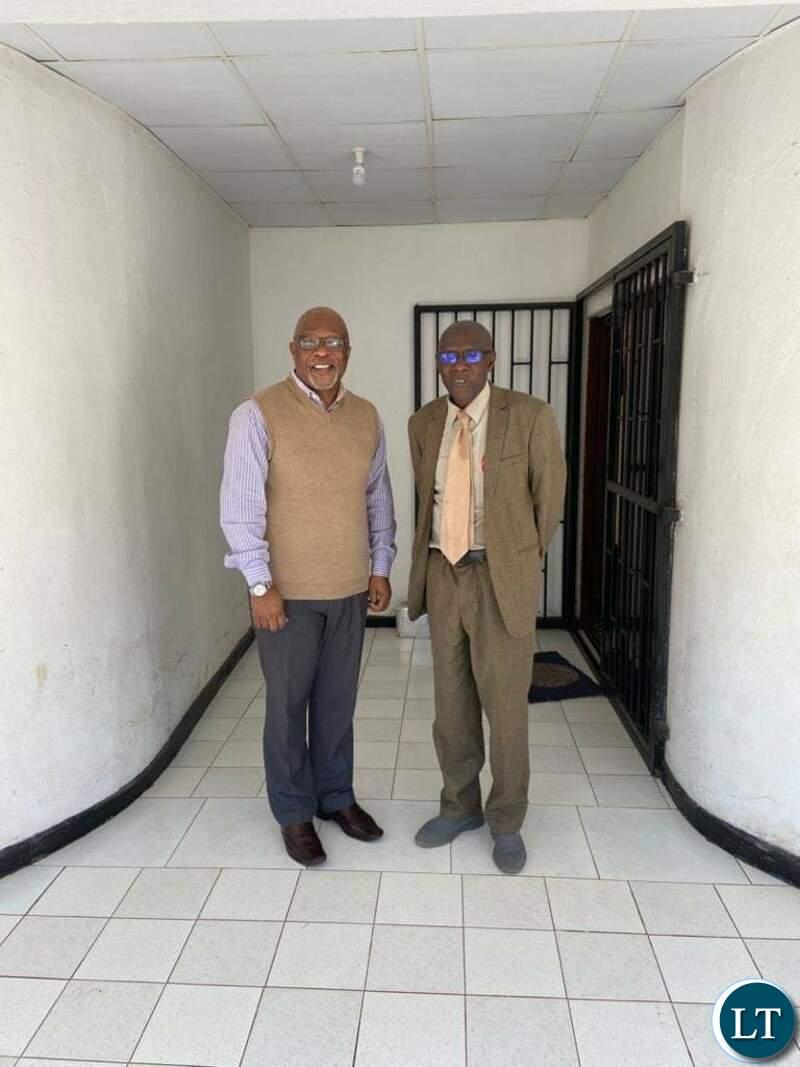 Nevers Mumba with paramount Chief Chitimukulu
