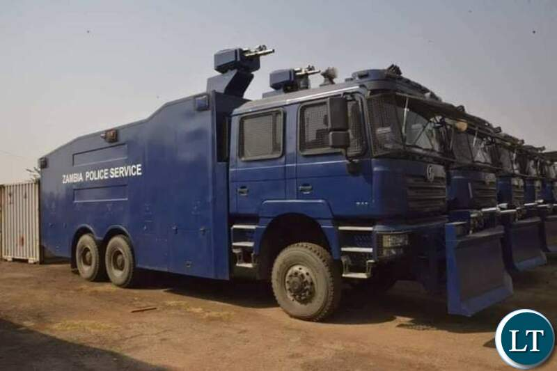 Part of the anti violence machinery for the Zambia Police Service