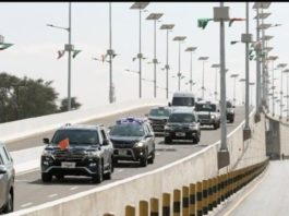 Solar Poles on the Newly Opened Makeni Flyover Bridge