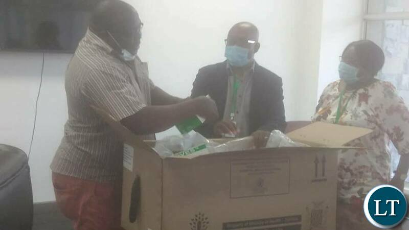 Kambwili inspecting Drugs at Medical Stores