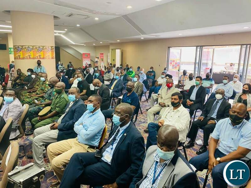 President Lungu meeting the business community in Ndola at a event organised by the Ndola District Chamber of Commerce and Industries held at Levey Mwanawasa stadium hall.