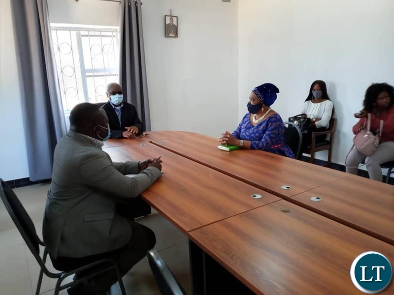 National Guidance and Religious Affairs Minister the Hon. Rev. Mrs Godfridah Sumaili MP paying a Courtesy call on the Catholic Archdiocese of Kasama