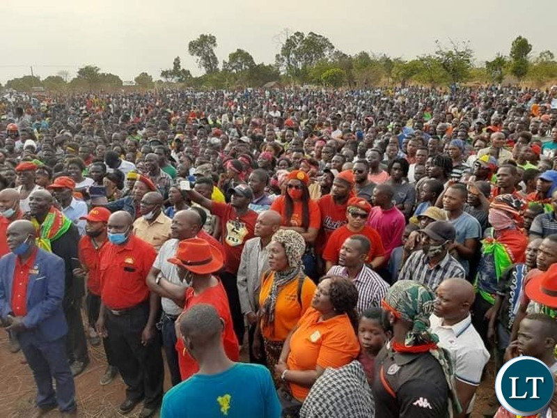 UPND Leader at a campaign Rally in Luapula Province