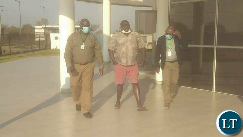 Kambwili paying an unannounced Visit at Medical Stores