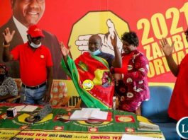 FDD's Chairperson for Agriculture, Emack Kaoma being Welcomed by UPND