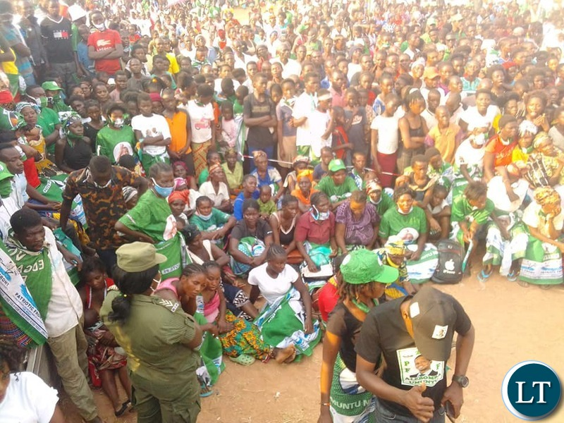 People at the PF Rally addressed by President Lungu