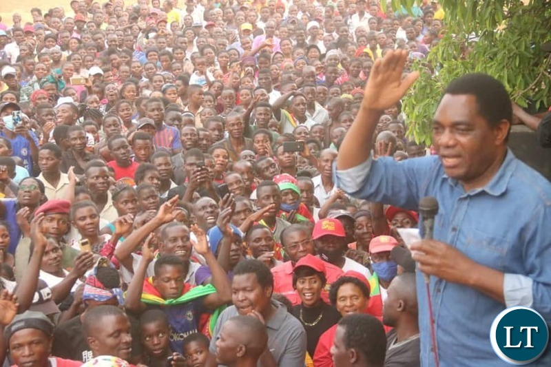HH at a UPND Rally in Mwansabombwe