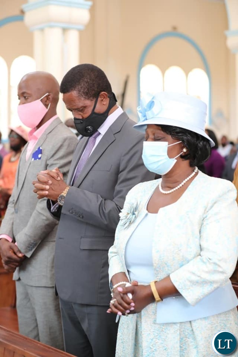 President Edgar  Lungu and First Lady  Esther Lungu  at the Daughter's Wedding Ceremony