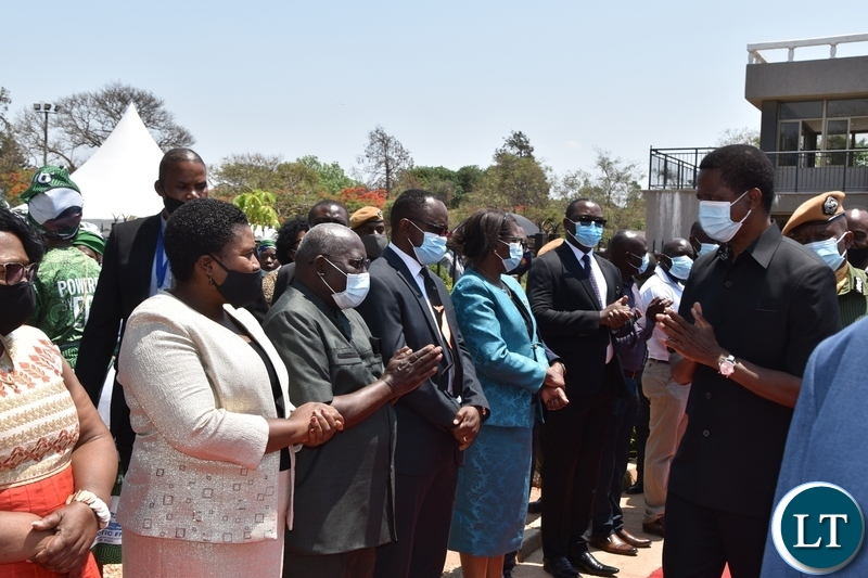 President Edgar Lungu great cabinet Ministers during the Sata memorial service at Embassy park. Wednesday, October 28, 2020.Picture By ROYD SIBAJENE/ZANIS