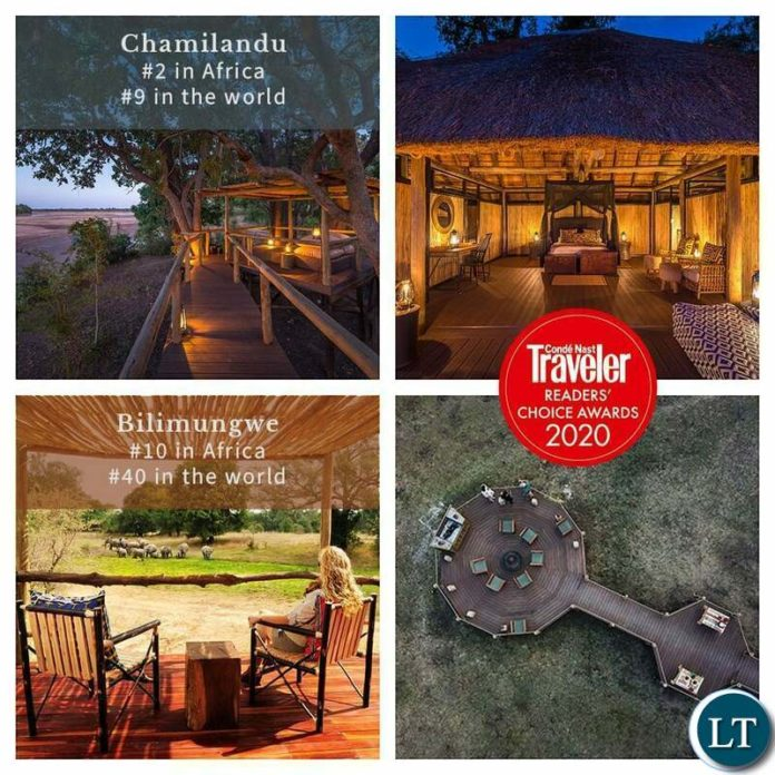 Chimilandu Bushcamp ranked number 2 in Africa and number 9 in the world.