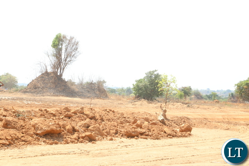 A prepared land to be given to flood and displaced victims by Government in Kitwe