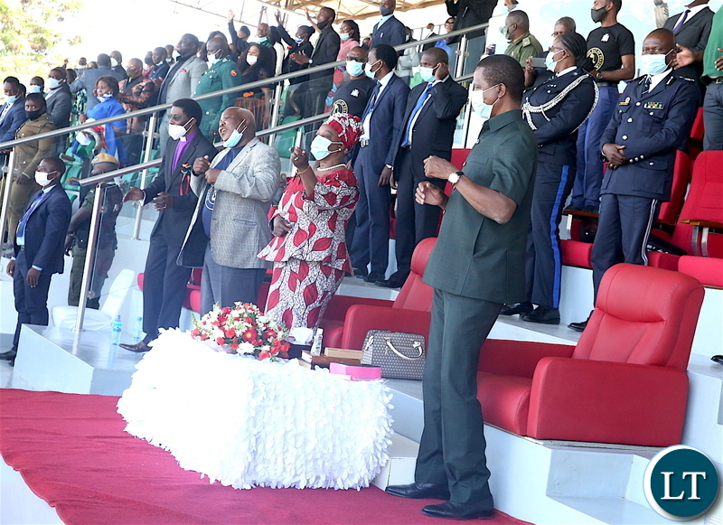 President Edgar Lungu and First Lady Esther Lungu  at Show Grounds in Lusaka during the National Day of Prayer, Fasting, Repentance and Reconciliation on Sunday, 18th October, 2020 -Pictures By THOMAS NSAMA/STATE HOUSE