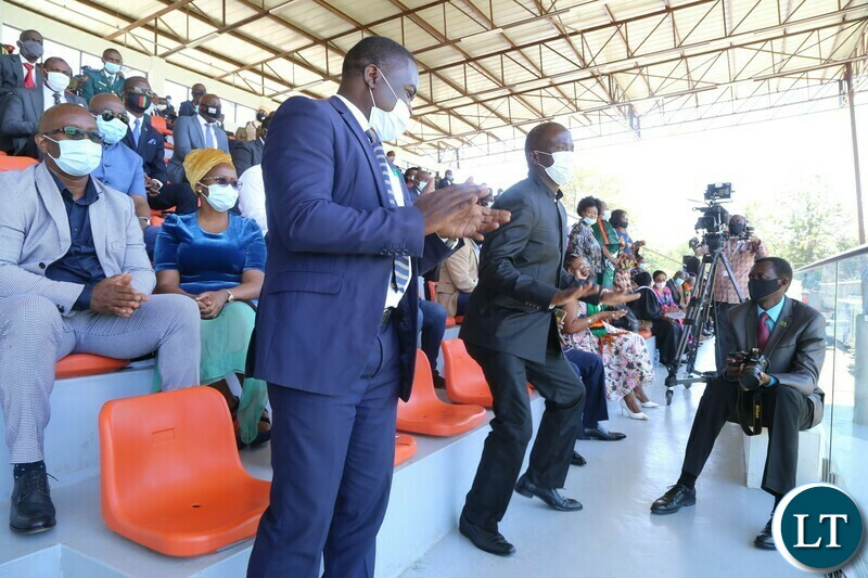 Leaders of the opposition Political Parties takes to the dance floor during the  National Day of Prayer,Fasting and reconciliation in the Show Grounds yesterday