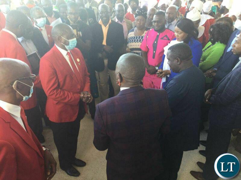 Lusaka Lawyer Kelvin Bwalya Fube KBF at the church service on the day of National Prayers