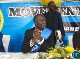 Former Minister of Finance Hon. Felix Mutati
