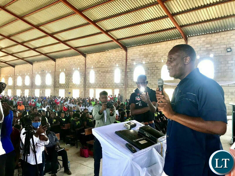 Felix Mutati at a Church Service during the day of National Prayers