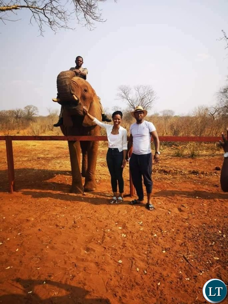 President Lungu's Daughter Tasila and her Husband Patrick Mwansa during their Homneymoon