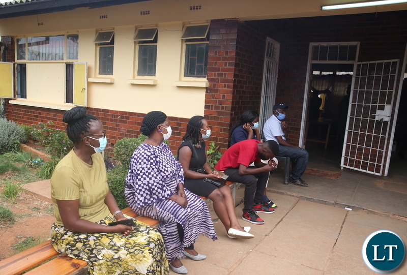 First Lady in the Queue to Register as a Voter at Woodlands A Primary School