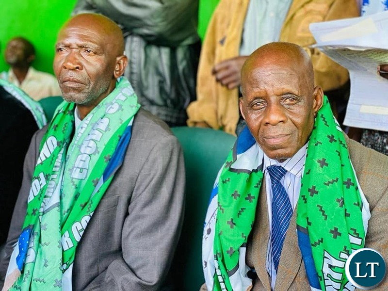 Village Headman from Dundumwezi District in Southern Province led by PF National Mobilisation Committee member Mr Bizwell Mutale when they paid a courtesy call on the ruling party Secretary General at his Office