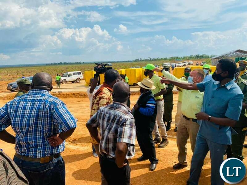 President Edgar Chagwa Lungu tours the Green 2,000 Agriculture Project in the Luena Farm Block in Kawambwa district of Luapula Province