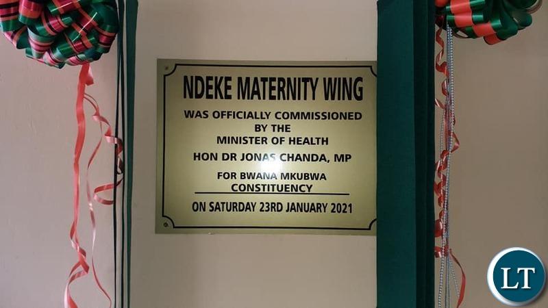 Ndeke Mini Hospital maternity wing in Bwana Mkubwa constituency in Ndola finally commissioned