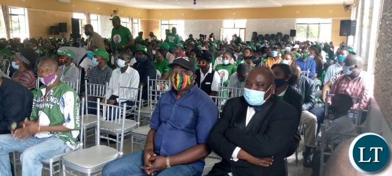 PF members listening to President Lungu